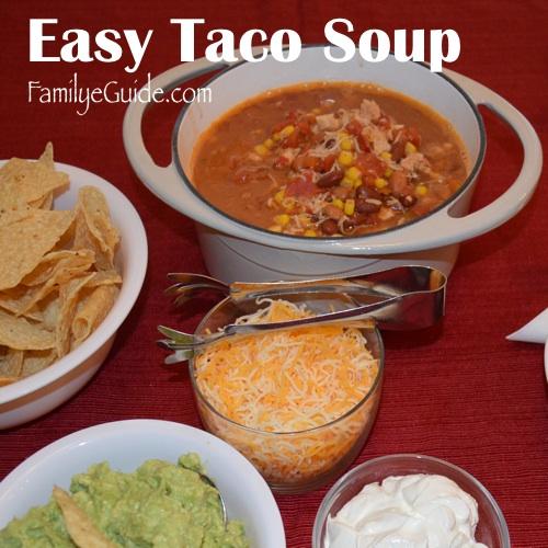 Easy Taco Soup 500