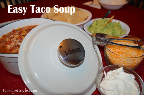 Easy Taco Soup Lodge