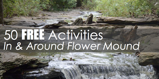 50 Free Activities Flower Mound Banner