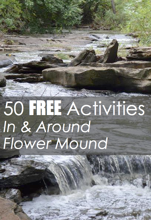 50 Free Activities Flower Mound Pin