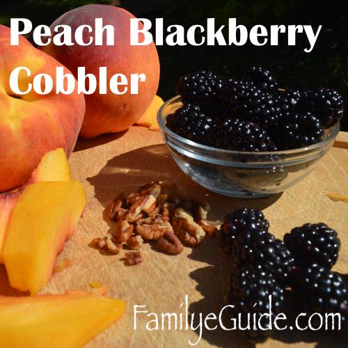 Peach Blackberry Cobbler 500