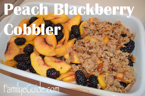 Peach Blackberry Cobbler Mix