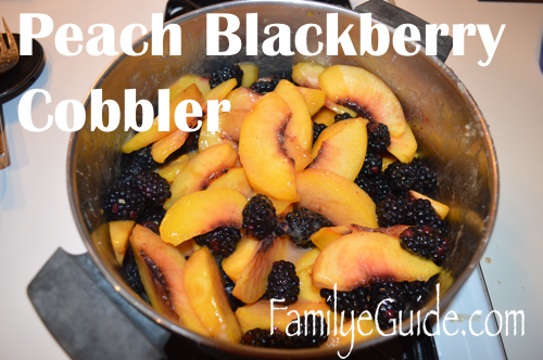 Peach Blackberry Cobbler Pot