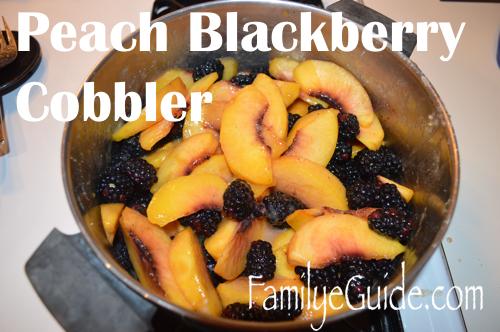 Peach Blackberry Cobbler Pot