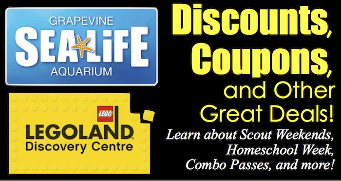 Discounts Sea Life and Legoland DFW