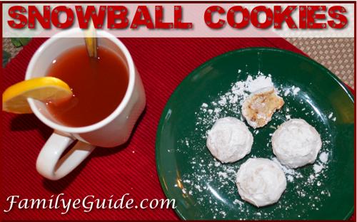 Snowball Cookies Banner