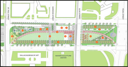 Klyde Warren Park Map
