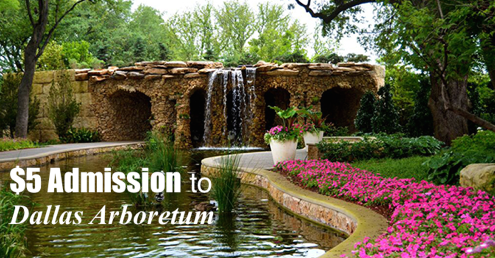 The Dallas Arboretum is open seven days per week. Whether you just want to surround yourself with the beauty of its gardens or you're interested in the year-round classes, the Dallas Arboretum will serve as a respite from your hectic life. Learn gardening, design, photography, or creative arts, among many other classes offered by the arboretum.