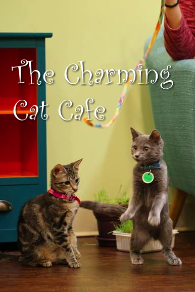 Charming Cat Cafe Pin