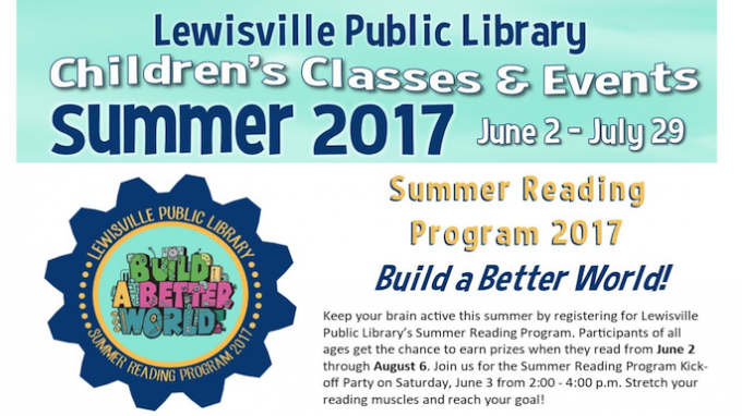 Summer Elementary Events at Lewisville Library @ Lewisivlle Library