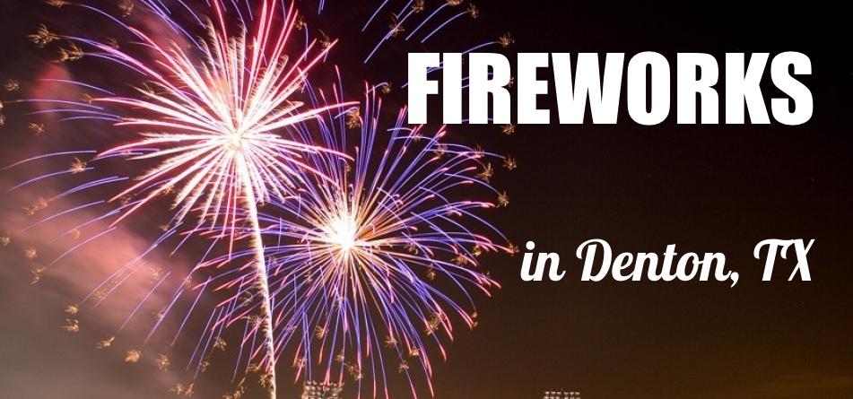 Fireworks Denton Banner