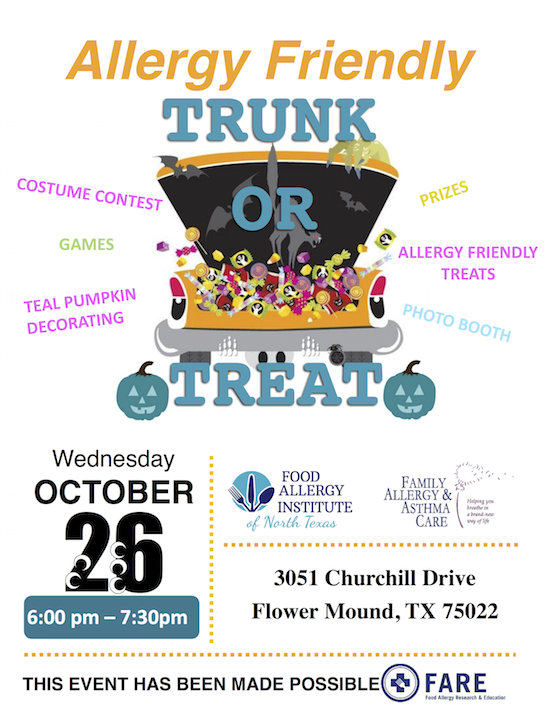Trunk or Treat in Flower Mound Allergy Free @ Family Allergy and Asthma Care | Flower Mound | Texas | United States