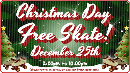 Free Roller Skating on Christmas Day