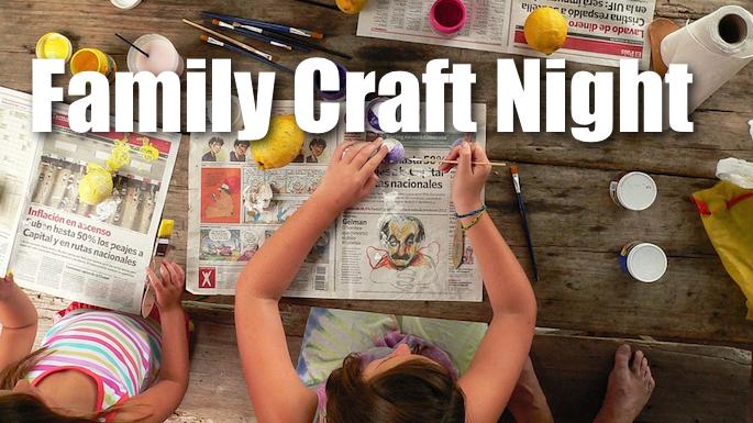 Family Craft Night Banner