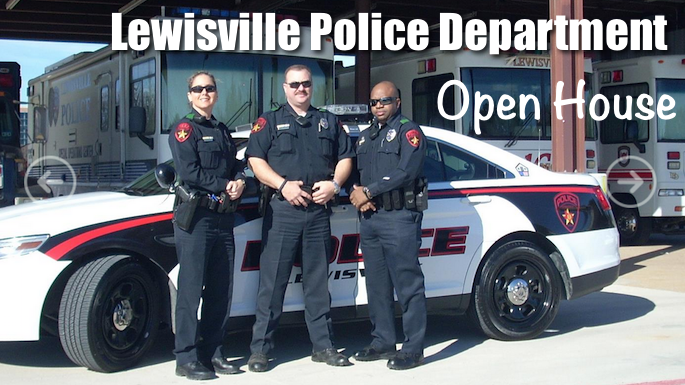 Lewisville Police Department will host an open house from 5 to 9 p.m. on Wednesday, August 9, 2017 at its headquarters, 1187 W. Main St. in Lewisville.