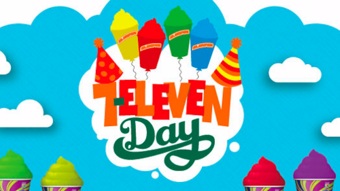 Free Slurpee on 7-Eleven Day @ 7-Eleven | Chapel Hill | North Carolina | United States