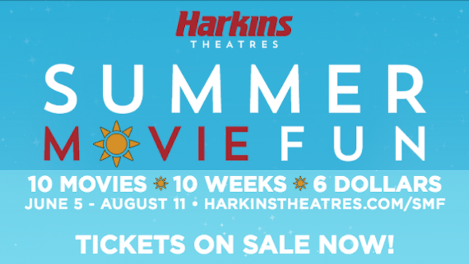 Summer Movie Club Harkins Southlake @ Harkins Theater