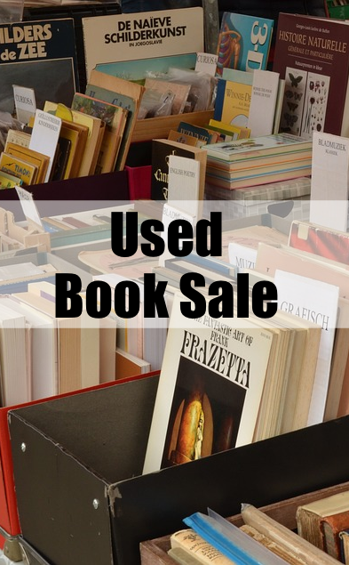 Used Book Sale Pin