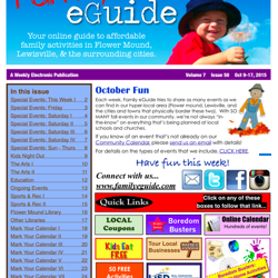 Events and Activities 2015 Oct 9-15