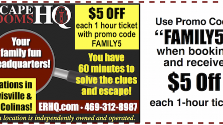 Escape Rooms HQ Lewisville Coupon