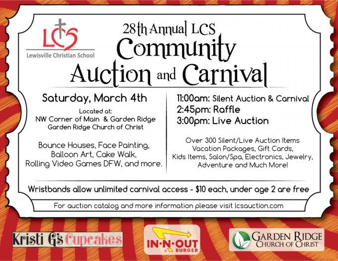Lewisville Christian School Carnival and Auction