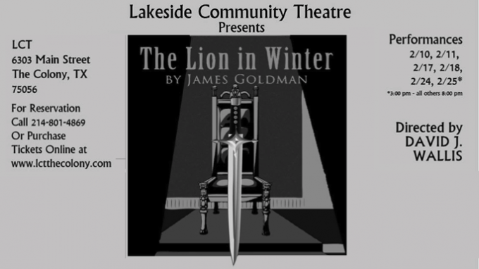 The Lion in Winter @ Lakeside Community Theatre   The Colony   Texas   United States