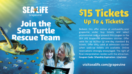 Sea Life Aquarium Grapevine Coupon
