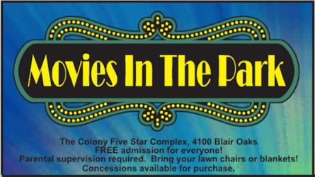 Movies in the Park in The Colony