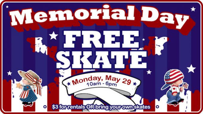 Free Skating on Memorial Day @ Lewisville | Texas | United States
