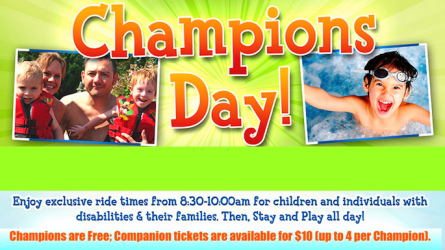 Champions Day at Hawaiian Falls