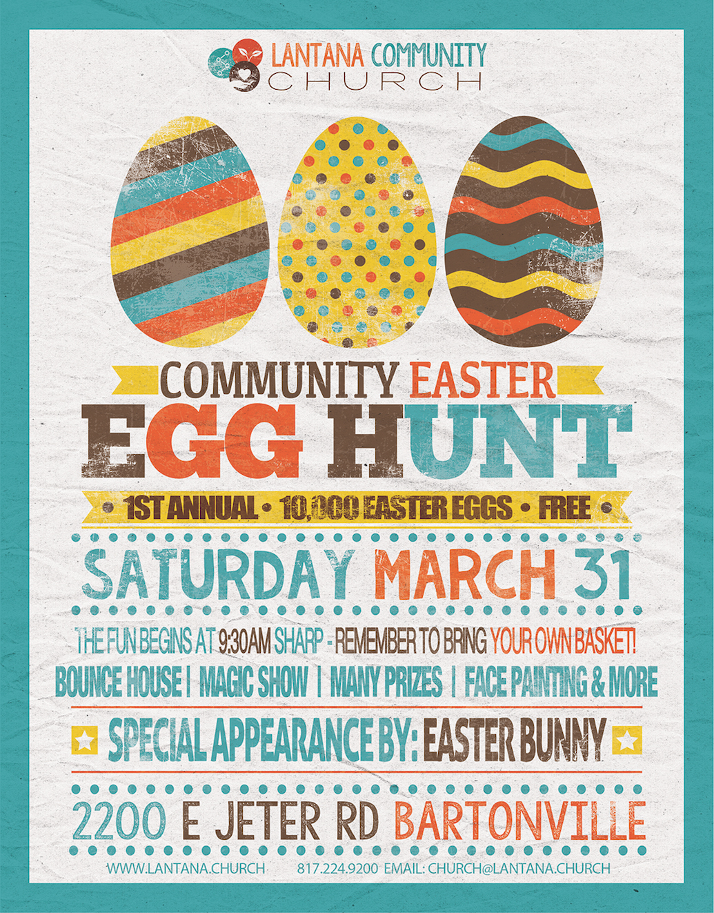 Community Easter Egg Hunt 10000 Eggs Bounce House Magic Show Prizes Face Paining And More Special Appearance By The Bunny