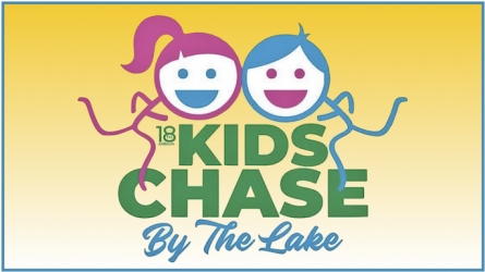 Kids Chase by the Lake in The Colony