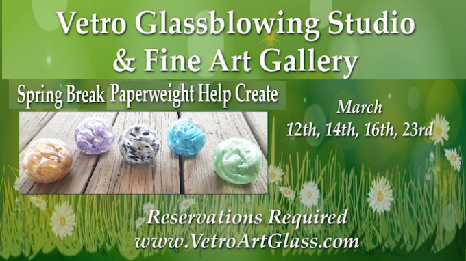 Spring Break Fun at Vetro Glassblowing @ Vetro Glassblowing Studio & Gallery | Grapevine | Texas | United States