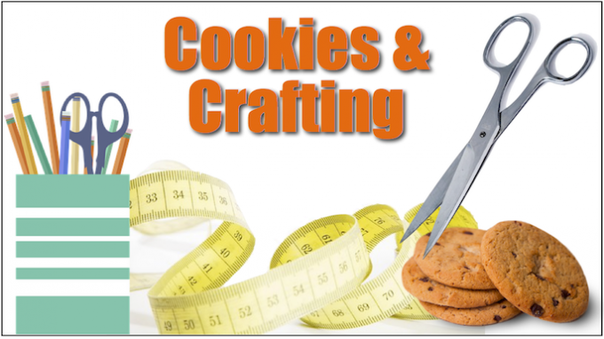 Cookies and Crafting @ Carrollton Public Library at Hebron & Josey