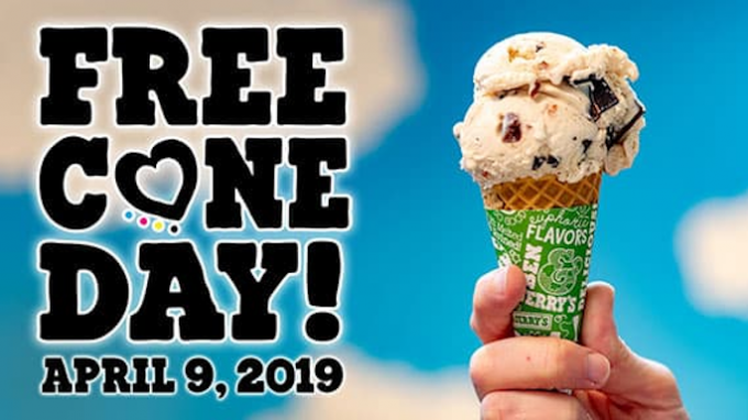 Free Cone Day @ Ben & Jerrys