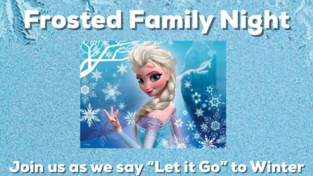 Frosted Family Night Flower Mound