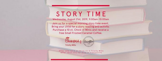 Carrollton Early Childhood PTA story time and craft at Chick-fil-A Trinity Mills @ Chick-fil-A Trinity Mills