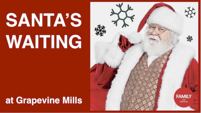 Santa at Grapevine Mills Mall @ Grapevine Mills Mall