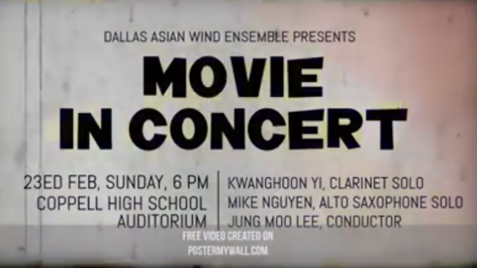 Movie in Concert @ Coppell High School